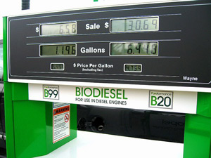 biodiesel blends at a biodiesel pump