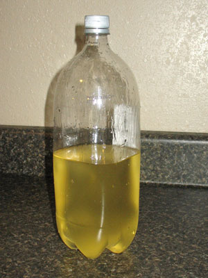 making biodiesel - the finished product